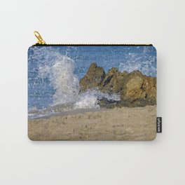 Frothy Spray on Rocks Carry-All Pouch