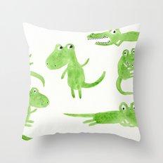 Alligator 2 Throw Pillow