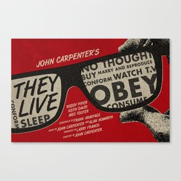 They Live movie poster Canvas Print
