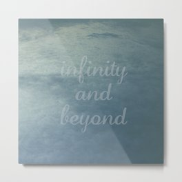 Infinity [With Text] Metal Print