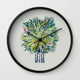 Poofy Asparagus Wall Clock
