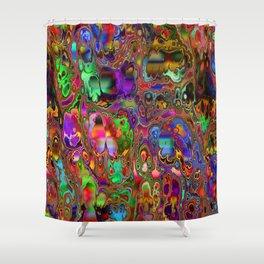 Geode by Tim Henderson Shower Curtain