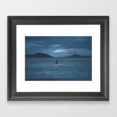 salt flats Framed Art Print