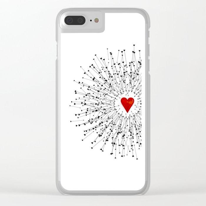 Heart&Arrows Clear iPhone Case