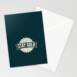 stay gold. Stationery Cards