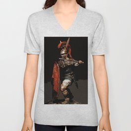Roman Legionary at War Unisex V-Neck