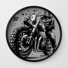 Reunited and it Feels So Good. Norman Reedus as Daryl Dixon from the Walking Dead and his Motorcycle Wall Clock