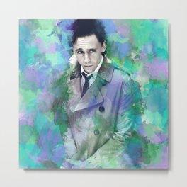 Tom Hiddleston Watercolor (mock) Metal Print