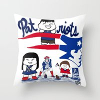 patriots Throw Pillows featuring Team Patriots!  by Happy Positivity