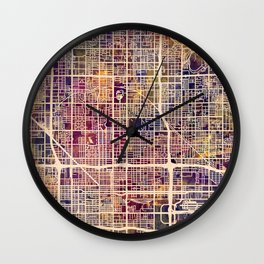 Phoenix Arizona City Map Wall Clock