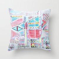 las vegas Throw Pillows featuring Vegas by Jelly Chen