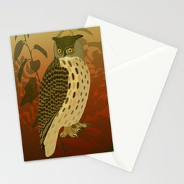evening owl Stationery Cards