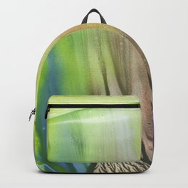 Waterfall of colors - abstract landscape watercolor monotype Backpack