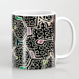 Song for Good Work - Traditional Shipibo Art - Indigenous Ayahuasca Patterns Coffee Mug