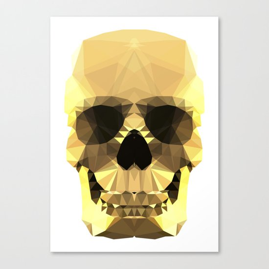 Polygon Heroes - Gold Skull Canvas Print