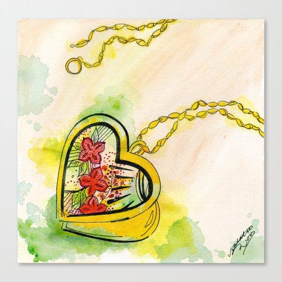 Love locket Canvas Print