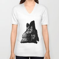 howl V-neck T-shirts featuring Howl by Victoria-Samantha