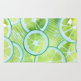 Lime Rings Rug