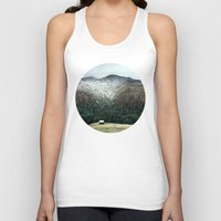 cabin Tank Tops featuring Cabin in the woods by General Design Studio