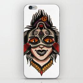 flip cat iPhone Skin