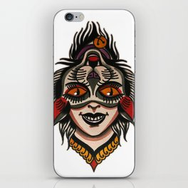 flip cat iPhone Skin