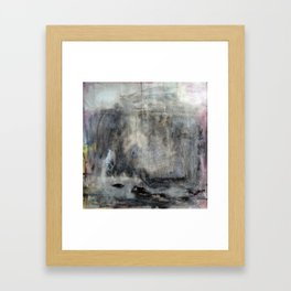 Jurassic (oil on canvas) Framed Art Print