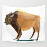 buffalo Wall Tapestries featuring Jasper Buffalo by Darrah Gooden