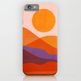 Abstraction_Mountains_SUN_Beautiful_Day_Minimalism_001 iPhone Case