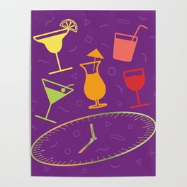 Happy Hour Cocktail Poster