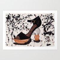 shoe Art Prints featuring Shoe by Melania B