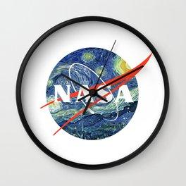 Nasa Starry Night Wall Clock