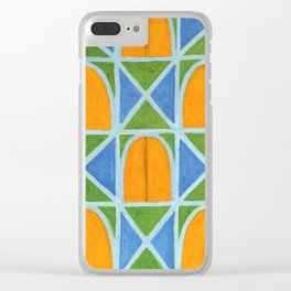 Lighted Arched Windows Pattern Clear iPhone Case