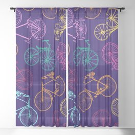 Bicycles - Vintage 1 Sheer Curtain