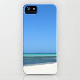 Crystal Clear Day on the Beach iPhone Case