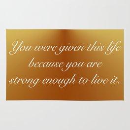 Live This Life Rug