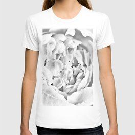 Peony - Black and White T-shirt