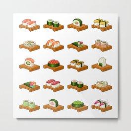 Pixel Sushi Metal Print
