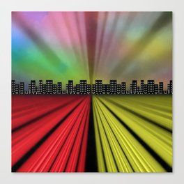 Into the City at Night Canvas Print