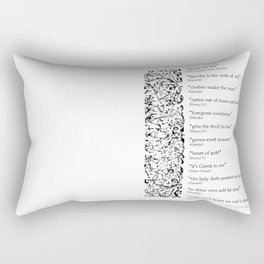 Words Words Words - William Shakespeare Quotations print Rectangular Pillow