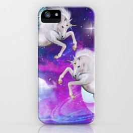 space unicorns v iPhone Case