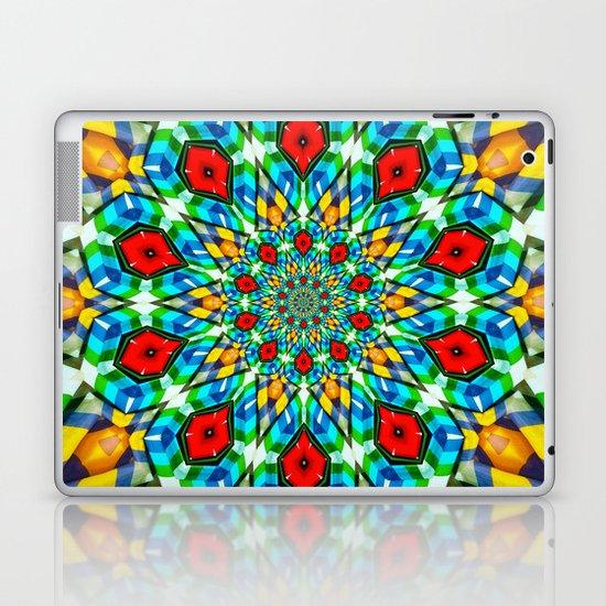 Folded Fabric Flower Laptop & iPad Skin