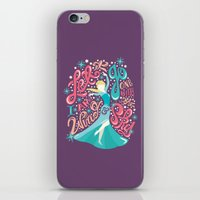 risa rodil iPhone & iPod Skins featuring Snow Queen by Risa Rodil