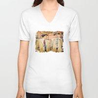 leonardo dicaprio V-neck T-shirts featuring Leonardo DiCaprio in Shutter Island - Colored Sketch Style by ElvisTR