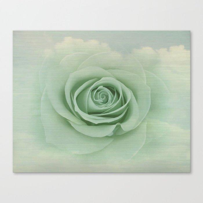 Dreamy Vintage Floating Rose Canvas Print