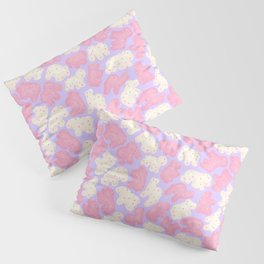 Frosted Animal Cookies on Lilac Pillow Sham