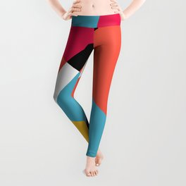 Bright Shapes Abstract Leggings