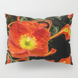 Poppies with abstract Pillow Sham