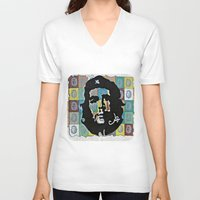 che V-neck T-shirts featuring Everywhere a Che, Che by Ethna Gillespie