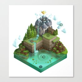 Isometric Board Game World (white background) Canvas Print