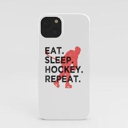 Eat. Sleep. Hockey. Repeat. T Shirt Hockey Player TShirt Ice Hockey Shirt Eat Sleep Repeat Gift iPhone Case